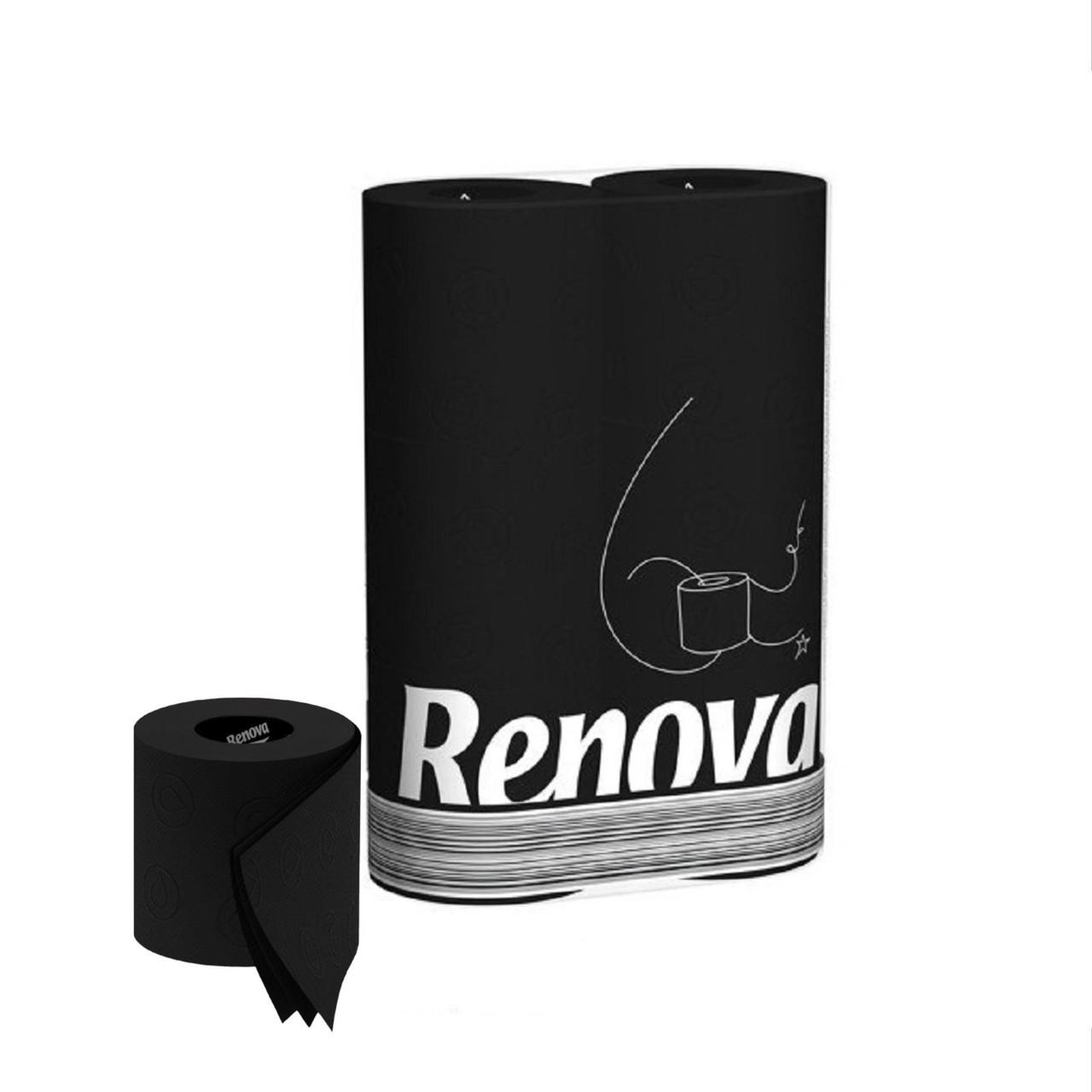 Renova Black Toilet Paper 2 Rolls Pack