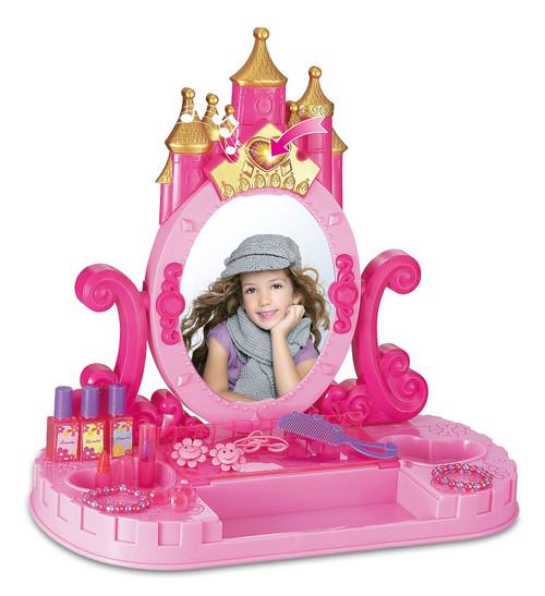 Vinsani Castle Vanity Dressing Makeup Table Princess Light & Sounds Pretend Play