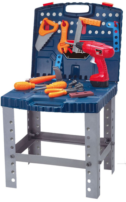 SOKA® Super Tool Childrens Kids Boys Work Bench DIY Building Tools Pretend Play Toy