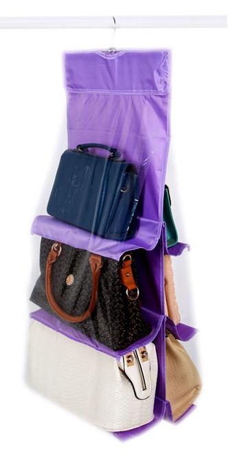 Vinsani Handbag Organiser Storage Holders - Purple