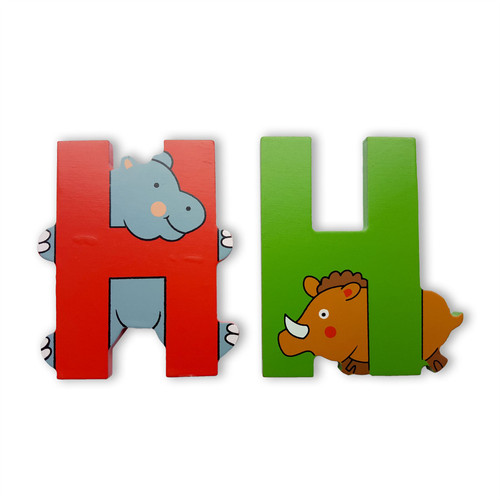 Wooden Jungle Animal Alphabet Letters Personalised Bedroom Wall Door Name U