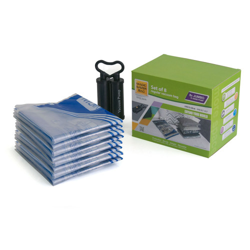 Magic Saver Bag - Pack of 8 Jumbo 73 x 130 cm Vacuum Storage Bags - King Pack