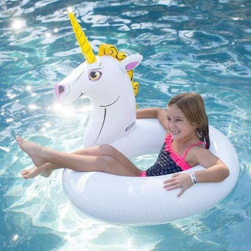 """Wham-O SPLASH 78cm / 31"""" Inflatable Swim Ring Giant Unicorn Tube Pool Float"""