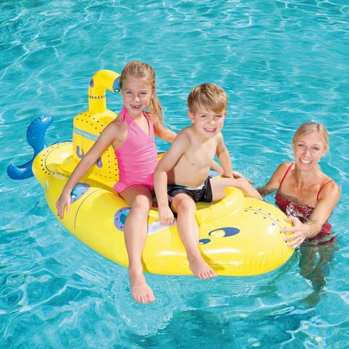 Bestway Inflatable Boat Float Ride-On Submarine Rider with Periscope - Yellow