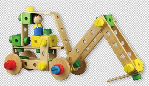 Lelin Wooden Contruction Kit Childrens Kids Model Building Activity Toy