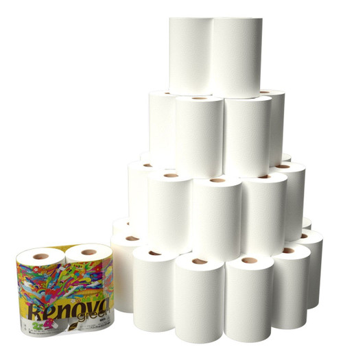 Pack of 6 Renovagreen 100/% Recycled Paper Towel Gigaroll x 6