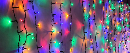 Kingfisher Christmas Xmas Decoration Fairy String Static Multicolour Lights for Outdoor Indoor in Various Sizes (600 LED Lights)