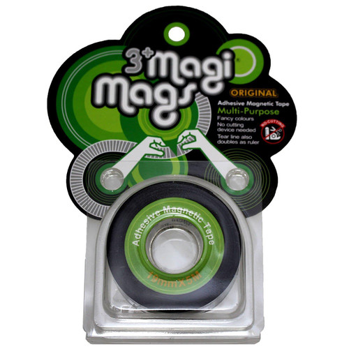 3+ Magi Mags Flexible Adhesive Double-sided Magnetic Cello Tape With Measure Markings - Neon Green