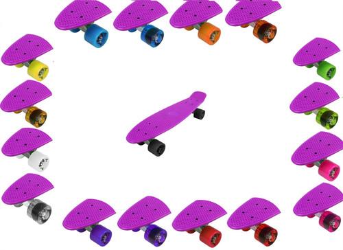 Vinsani [Set of 2] Cruiser Skateboard PU Wheels In Transparent or Solid Colours