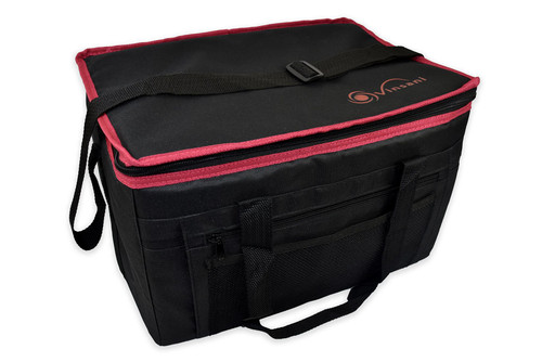 Vinsani Insulated Cooler Picnic Basket Foldable Collapsible Camping Outdoor Travelling Food Drink Storage Bag, 48 Can - 24 L (Black)