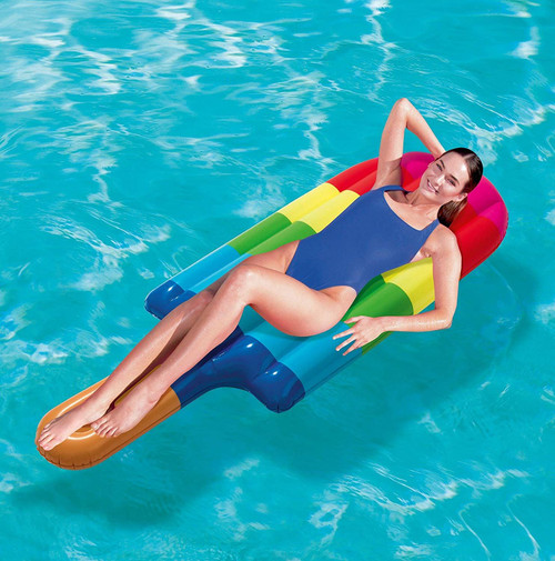 Bestway Inflatable Multicoloured Popsicle Swimming Pool Lounger Lilo Air Mattress Beach Toy Float