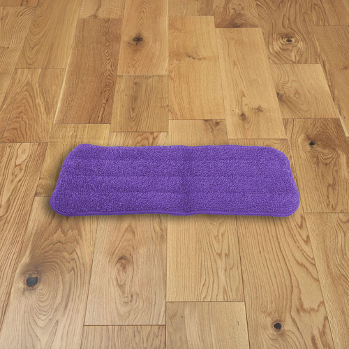 Vinsani Purple Microfibre Mop Refills Pad - Head Replacement for Wet/Dry Pad Cleaning Washable Spray Mop Head