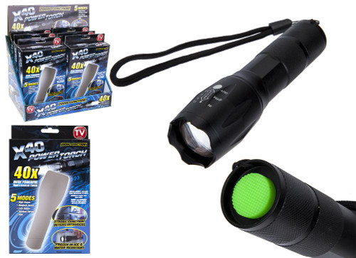 LED Torch Flashlight Adjustable Focus Handheld Super Bright Pocket Zoomable and Waterproof Camping Outdoor Torch