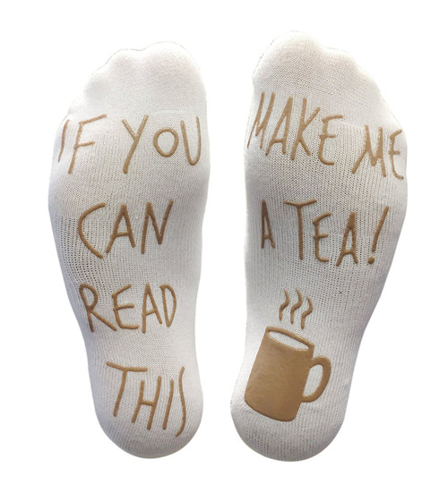 Vinsani 'If You Can Read This Make Me A Tea!' Funny Socks For Those People That Love Tea