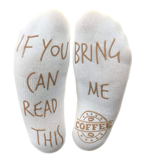 Vinsani 'If You Can Read This Bring Me Coffee' Funny Socks For Those People That Love Coffee