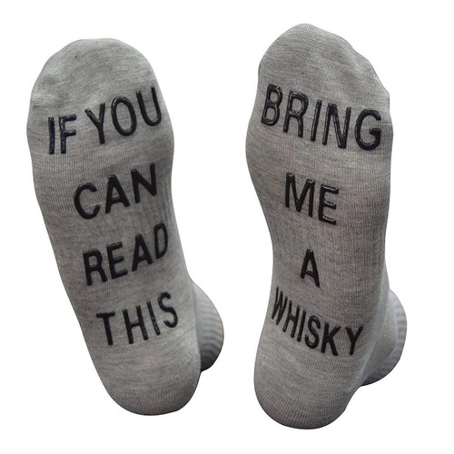 Vinsani 'If You Can Read This Bring Me A Whiskey' Funny Ankle Socks - Gift For Whiskey Lovers