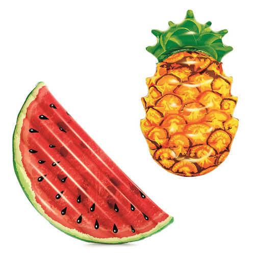 Bestway Inflatable Summer Fruit Lounge Pineapple or Watermelon Novelty Pool Float Swimming Lilo