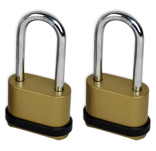 Vinsani 4 Digit Long Shackle Combination Padlock Security Home Shed Gate Garage - 2 X Padlocks