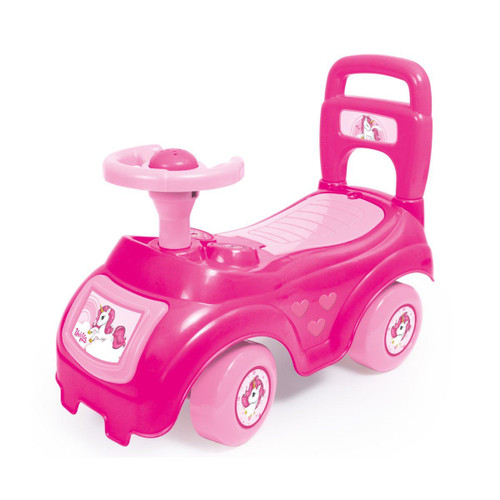Vinsani Unicorn Sit & Ride On Pink Car Vehicle Toy Storage Under Seat Toddler Push Along