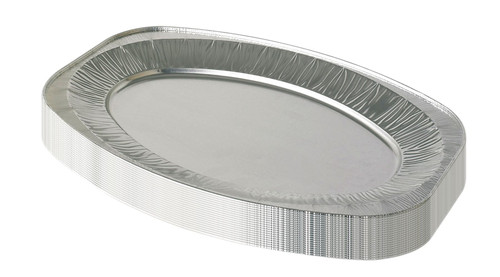 Vinsani Disposable Catering  Serving Party Foil Aluminium Platters 14 Inch Pack Of 20
