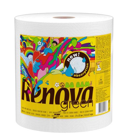 Renova Green 100% Recycled Kitchel Roll Paper Towels Gigaroll (6 Rolls)