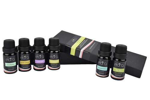 Aromatherapy Essential Oils 6 x 10ml Gift Set - 100% Pure Oils kit - Lavender, Tea Tree, Eucalyptus, Lemongrass, Orange, Peppermint