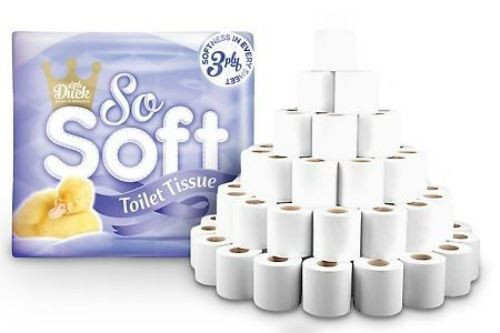 So Soft 3 Ply Embossed Quilted Toilet Tissue Paper Rolls