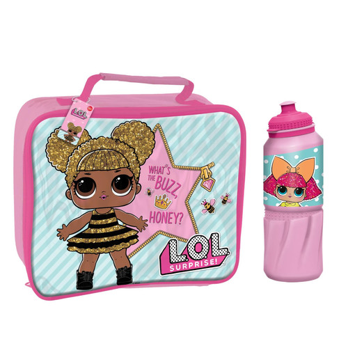 L.O.L Surprise! Kid's 530ml Bottle & 26x21x7cm Insulated Lunch Bag Set