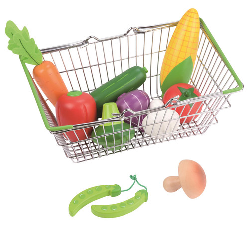 Lelin Toy Shopping Basket Vegetable Set Creative Pretend Play Toys For Kids Perfect Gift For Boys and Girls