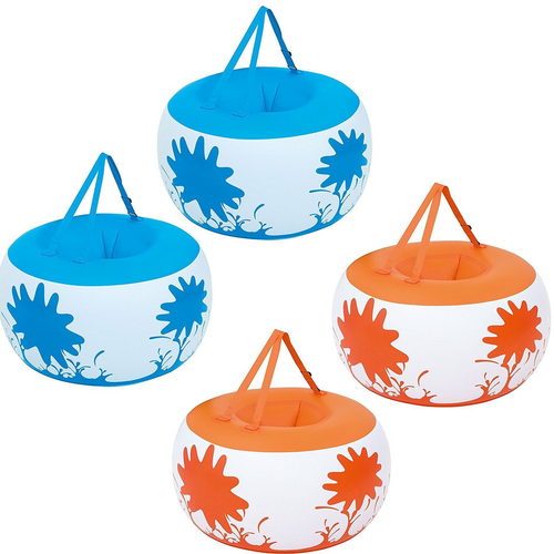 """PACK OF 2 Childrens Outdoor Inflatable Body Bumpers - Set of 2 Giant 36"""" Bonk Outs Orange & Blue"""