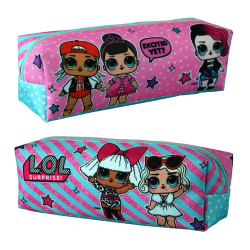 L.O.L SURPRISE! Rectangular Pencil Case for Girls and Teens Featuring Cartoon Dolls Print - Kids Stationary Holder for School Or Travel