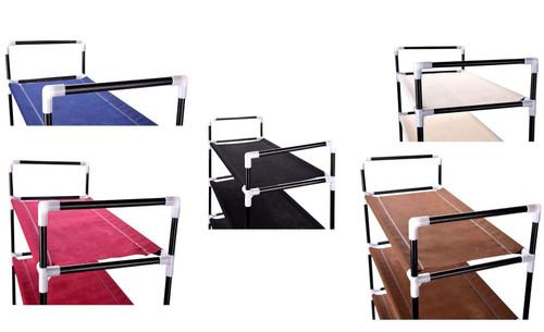 Vinsani 6 Tier Shoe Rack Standing Shoe Furniture Storage Organizer Stand Adjustable Shelf In Various Colours