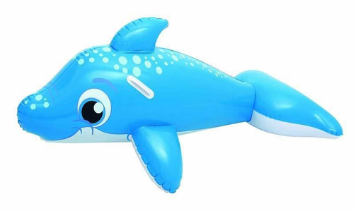 """PACK OF 2 Large Inflatables Floats Ride On Dolphin Beach Swimming Pool Toy 3 years+ 63"""""""