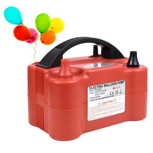 Vinsani® Powerful 600W Balloon Inflator Electric Pump - Portable Dual Nozzle Electric Balloon Blower for Party, Wedding, Birthday, Promotional Activities and Festival Decoration