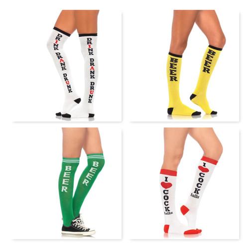 Vinsani® Knee High Print Comfortable Stocking Athletic Socks For Home, Running,Football,Soccer