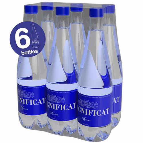 Magnificat Sparkling Natural Mineral Water Pack of 6 x 1 litre