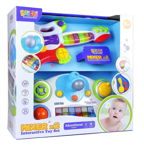 Vinsani Light & Sound - Guitar & Piano Creative Musical Toy for 2 Years and Over