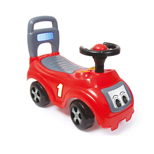 SOKA My First Ride On and Push Along Buggy Car First Steps Toddler Walker Learning Toy with Sounds - Red