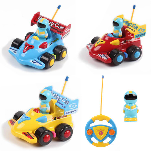 SOKA My First Remote Controlled Racing Car for Toddlers with Sound and Light Toy car Birthday Gift Present for Boys Girls