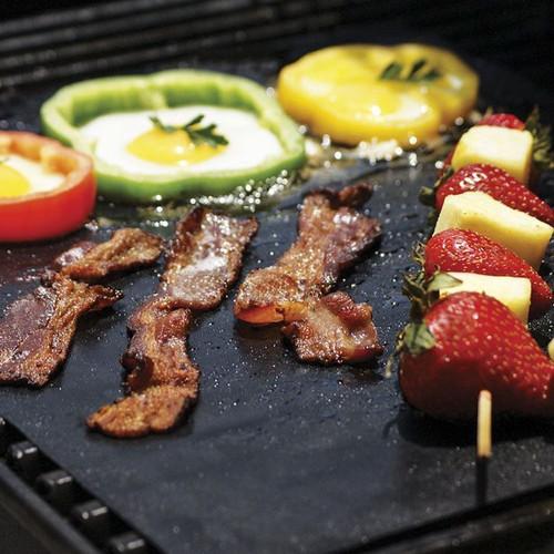 Vinsani Non-Stick BBQ Grill Liner Mat (40 x 33 cm) Reusable & Dishwasher Safe