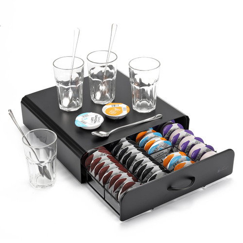 Vinsani Coffee Pod Holder - 64 Capsules Stackable Stand - Non Slip Surface