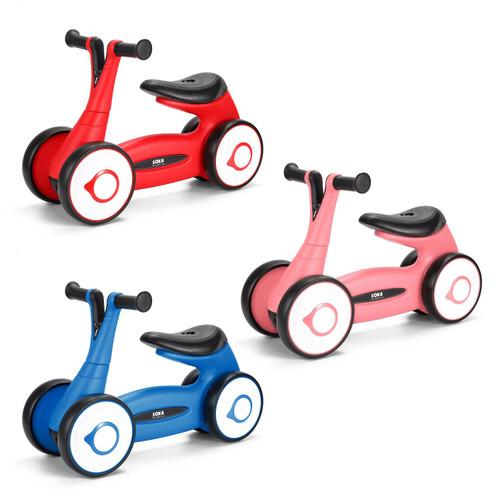 SOKA Balance Bike Toddler 4 Wheel Ride-on Bicycle Baby Balance Training Bike Toys Gift
