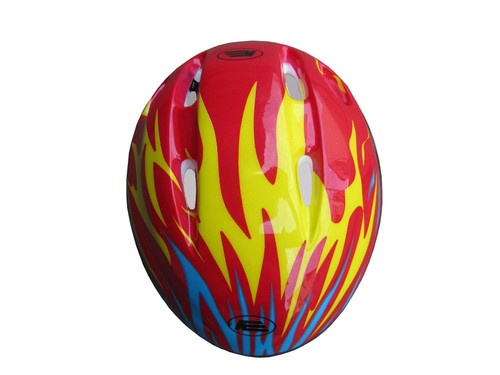 Vinsani Red Flame Helmet Kids Bicycle Cycle Helmet for Bike Riding Safety