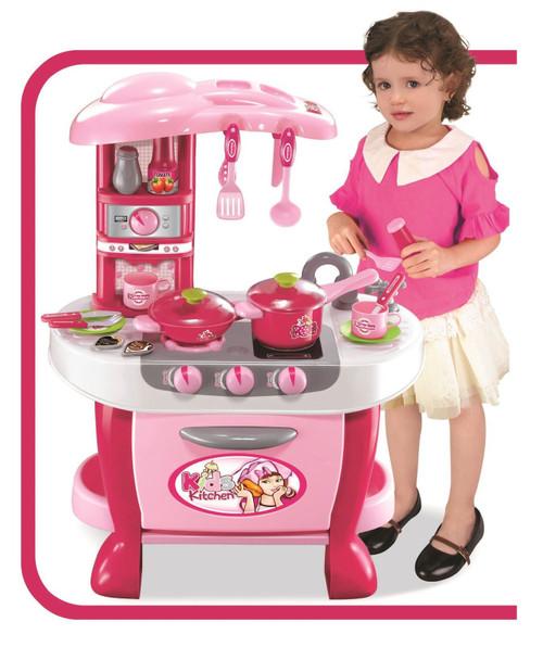 Vinsani Children Kids Pink Light & Sound Kitchen Food Cooking Little Chef  Pretend Role Play Set