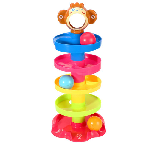 SOKA Drop and Go Ball Ramp 5 Layer Swirling Tower Baby Toy Early Educational Development Toys Sensory Game Activity Puzzle Stacking Play Gifts for Baby Girls Boys Toddlers 18 Months+