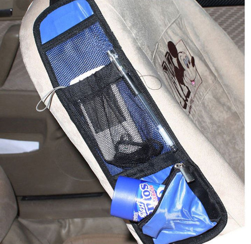 Vinsani Car Multi Side Pocket Seat Storage Hanging Bag Organise Pouch - Blue