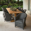 Reflections Outdoor Wicker Dining Set for 8 with Teak Table By Lloyd Flanders