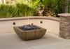 Reclaimed Wood Bordeaux Sq. Fire Bowl by American Fyre Design