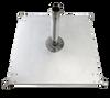 Galvanized Steel Matte Silver Square Triple Plate Stack by Frankford Umbrella