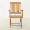 Classic Teak Stinson Folding Arm Chair